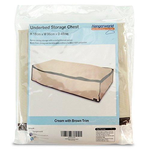 Hangerworld contenitore sottoletto beige con zip e bordi - Contenitore sottoletto ...