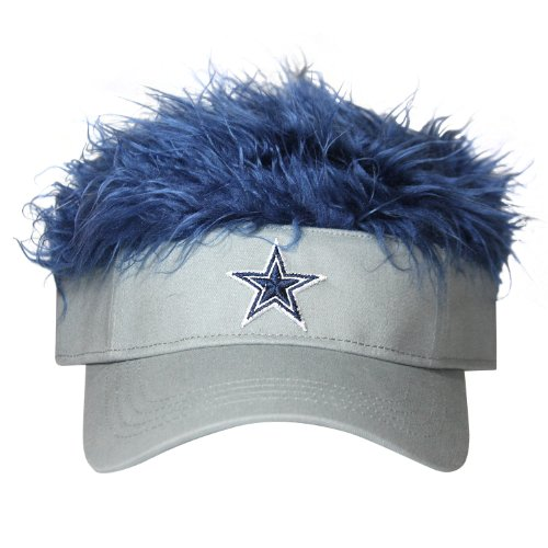 NFL Dallas Cowboys Flair Hair Adjustable Visor, Grey at Amazon.com