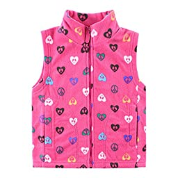 Bnspl Unisex kids\' Casual Fashion Fit Color Fleece Vest