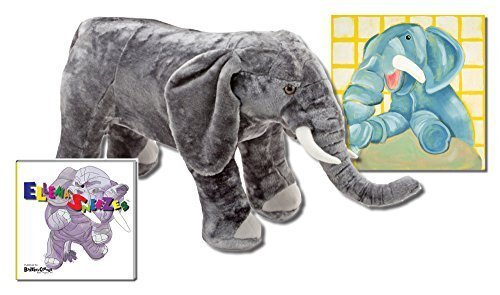 "Ellema the Elephant - Premium Gift Set, Includes ""Ellema Sneezes"" - Storybook & Beyond, Canvas Wall Art and Melissa & Doug Plush - 1"