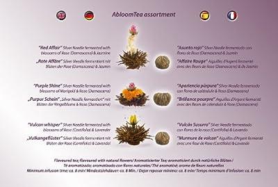 Creano ErblühTee Teeblumen Mix - Schwarzer Tee, 6er Set in 3 verschiedenen Sorten   Nachfüllbox von Creano bei Gewürze Shop