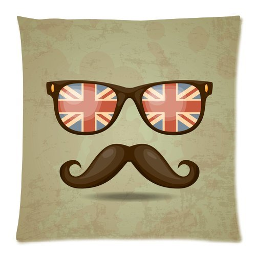 Yestore Custom Cotton Mustache 18X18 Inch Pillow Cushion Cases