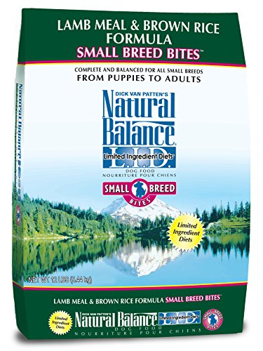 Natural Balance Limited Ingredient Diets Lamb Meal & Brown Rice Formula Small Breed Bites Dry Dog Food - 12 Lb