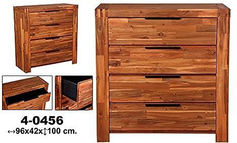 Comoda de madera con 4 cajones Nuevo Hogar