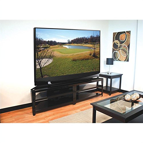 TechCraft BCE82 82-Inch Wide Flat Panel TV Stand - Black picture