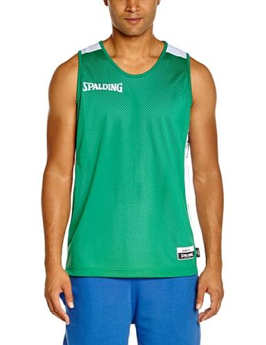 Spalding-Maglietta essenziale, reversibile verde Green - grün/weiß M