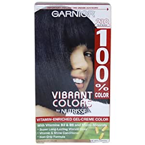 Garnier 100% Color Vitamin Enriched Gel-Creme Color, No. 210 Blue Black
