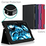 [CORNER PROTECTION] CaseCrown Bold Standby Pro Case (Black) for 2013 All-New Amazon Kindle Fire HDX 7 Inch Tablet (NOT for 2012 Kindle Fire HD 7) with Sleep / Wake, Hand Grip, Corner Protection, & Multi-Angle Viewing Stand