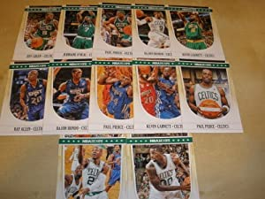 2011-12 Panini NBA Hoops Boston Celtics Team Set (12 Cards)- 2 Kevin Garnett, 2 Rajon... by 2011/12 Panini NBA Hoops