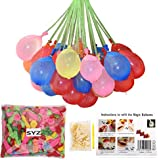 Water Balloons Refill Kit, SYZ Magic Water Bombs Fill Old Straws Quick & Easy, 500 Total Colorful Balloons And...