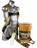 Guardian Fall Protection 00815 BOS-T50 Bucket of Safe-Tie with Temper Anchor, 50-Foot Vertical Lifeline Assembly and HUV