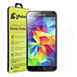 MINITURTLE, Clear Tempered Glass Screen Protector - 9H Surface Hardness - 0.26mm Thick - Made with 100% Real Glass - for Android Smartphone Samsung Galaxy S5 V SM-G900