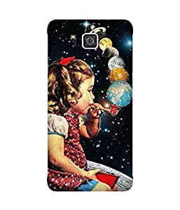 Smoking Planets Back Cover Case for Samsung Galaxy Alpha
