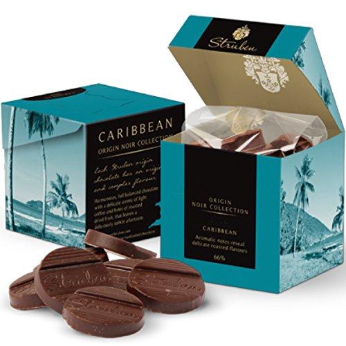 Struben Caraibi 66% di cioccolato fondente - 66% Kakoa - Note aromatiche in coppia con aromi tostati. Cacao 66% - Struben origini del cioccolato hanno sapori originali e complesse - cioccolato 18 momenti