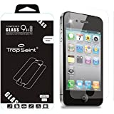 Trop Saint ® 9H 0,4mm Echt Glas Panzer Display Schutz Folie Scheiben Apple iPhone 4 / 4S Tempered Glass