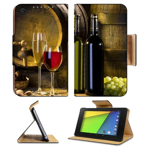 Variety Grape Wine Barrel Bottles Asus Google Nexus 7 Fhd Ii 2Nd Generation Flip Case Stand Magnetic Cover Open Ports Customized Made To Order Support Ready Premium Deluxe Pu Leather 8 1/4 Inch (210Mm) X 5 1/2 Inch (120Mm) X 11/16 Inch (17Mm) Luxlady Nexu front-1037970