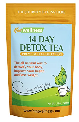 14 Day Detox Tea – BY HINT WELLNESS – Weight Loss Aid for a Great Body Cleanse – Reduce Your Bloating and Improve Digestion – Teatox Includes Diet and Nutritional Tips