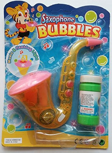 Flashing Bubble Saxophone with Music & Flashing Lights (Colors May Vary)