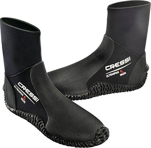 Cressi Ultraspan Boots Calzari in Neoprene con Suola, 5 mm, Nero, S