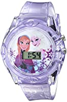 Disney Kids' FKFKD004 Frozen Digital Display Quartz Purple Watch with Interchangable Characters in a Gift Tin by Disney