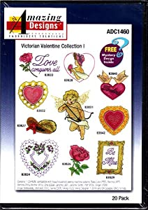 Amazing Designs Victorian Valentine Collection 1 Machine Embroidery Designs ADC1460 from Amazing Designs