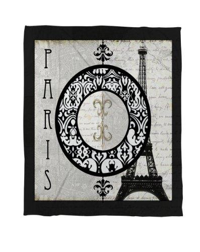 Thumbprintz Coral Fleece Throw, 60 By 80-Inch, Paris Circle Eiffel Tower front-667469