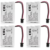 EBL 4 Pack BT-446 Cordless Phone Battery 800mAh 3.6V Ni-MH Replacement Rechargeable Battery for Uniden Cordless Phone BT-446 BT446, BP-446 BP446, BT-1005 BT1005, TRU8885, TRU8885-2, TRU88852, TRU8888, TRU9460, TRU9465, TRU9480, TCX-800