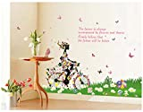 Oren Empower wall decal butterfly girl wall sticker for home decoration