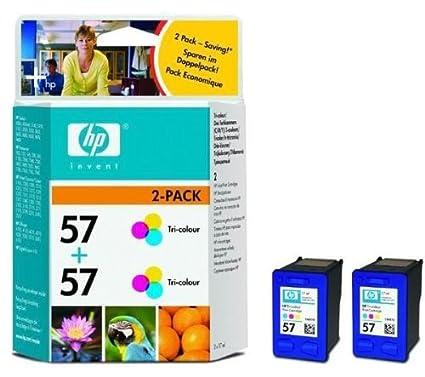 Hp - Pack 2 cartouches encre N°57 - Couleur pour HP Deskjet 450cbi, 450wbt, 5150, 5151, 5550, 5652, 5655, 5850, 9650, 9670, 9680, pour HP Photosmart 100, 130, 145, 230, 245, 7150, 7260, 7350, 7450, 7550, 7660, 7760, 7960, 1110, 1210, 1215