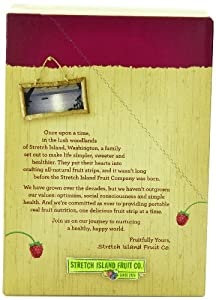 Stretch Island Original Fruit Leather, Ripened Raspberry, 0.5-Ounce Bars (Pack of 30)
