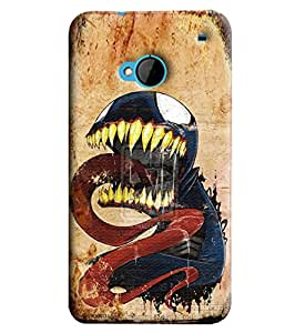 Blue Throat Dragon Printed Designer Back Cover/Case For HTC One M7