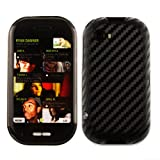Skinomi TechSkin - Black Carbon Fiber Film Shield & Screen Protector for Microsoft Kin Two / Kin TwoM