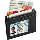 Kinzd® カードケース 本革ミニ財布 小銭入れ 多機能パスケースRFIDブロッキングコンパクト メンズ