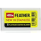 10 Feather Razor Blades NEW Hi-stainless Double Edge