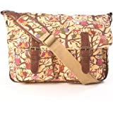 Ladies Girls Oilcloth Cross Body School Satchel Shoulder Bag - Owl Design, Available in Many Colours