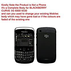 Replacement HIGH QUALITY FULL BODY HOUSING PANEL FACEPLATE FASCIA for BLACKBERRY CURVE 3G 9300 9330 Black