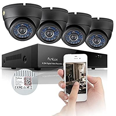 Funlux 960H 8CH HDMI DVR Outdoor Home Video 600TVL Security Camera System 500GB