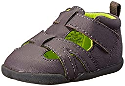 Carter\'s Every Step Bristol Stage 2 Stand Walking Shoe (Infant/Toddler), Grey/Yellow, 3 M US Infant