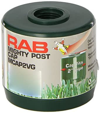 Rab Lighting Mcap2vg Mighty Post Cap For 2 Quot Pipe 2 3 8
