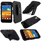 For Samsung Galaxy S2 D710 Epic 4g Touch Sprint,metropcs, US Cellular and Boost Mobile CellularvillaTM 3pc Hard and Soft Black Kickstand Case with Holster Clip. This Case Is Only for the Sprint,metropcs and Us Cellular Version Samsung Galaxy S 2 (Black)