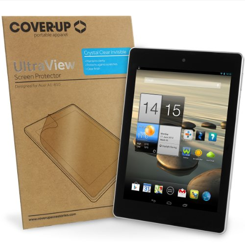 Cover-Up UltraView Kristallklare, transparente Displayschutzfolie für Acer Iconia Tab A1-810 / A1-811 (7,9 zoll) Tablet (Zweierpack)