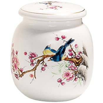 Bird and Cherry Blossom Canister