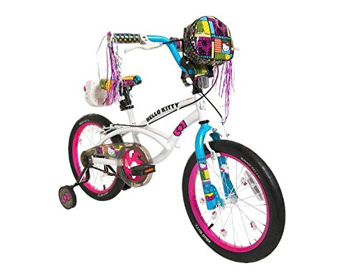 Dynacraft-8093-38ZTJ-Girls-Hello-Kitty-Bike-WhitePinkBlue-18-Inch