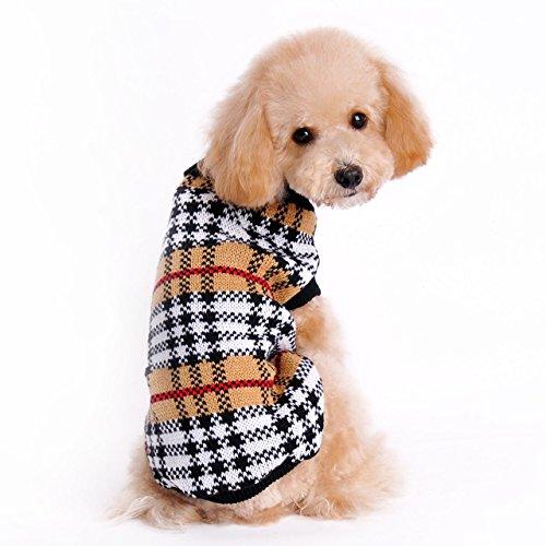 Cane Vestiti Invernale Costume Gatto Vestiti Invernali Maglione Caldo Maglieria per Cani Cucciolo Abbigliamento Cappotto (M)