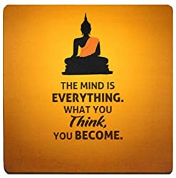 The Mind Is Everything Buddha Quote Mousepad By QuoteSutra