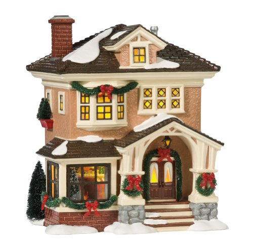 Department 56 Original Snow Village Christmas At Grandma's Lit House (Ceramic Village Houses compare prices)