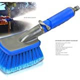 Car Wash Brush - 006CB Adjustable Flow Thru Model For Quick Scratch-free Washes Commercial & Home Use Detachable Nozzle Ideal For Boat Vans SUVs Trucks Greenhouses Driveways Bins Terrific For High Pressure Or Spot Free Applications