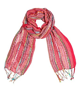 Women's Festival Bliss Shimmer Fashion Scarf (Rosy Pink)