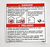 Miller 233088 Label,Danger Using A Generator Indoors Can Kill Picture