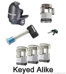 Master Lock - 6 Trailer Locks Keyed Alike #6KA-37937-37